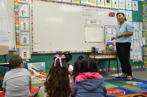 Kinder Teacher in classroom
