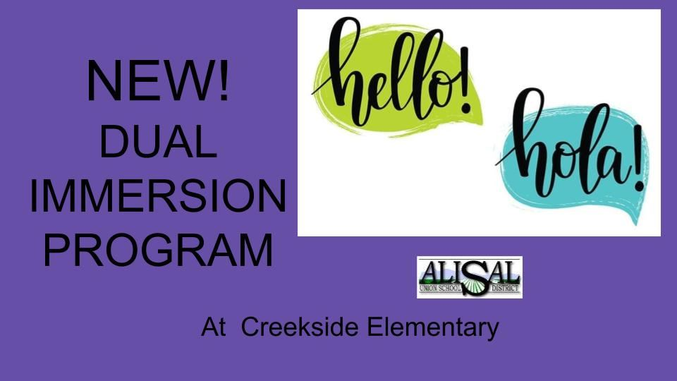 New Dual Immersion Program