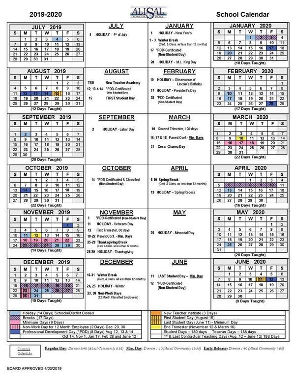 Monterey School District Calendar 2021-2022 District School Year Calendar / District School Year Calendar