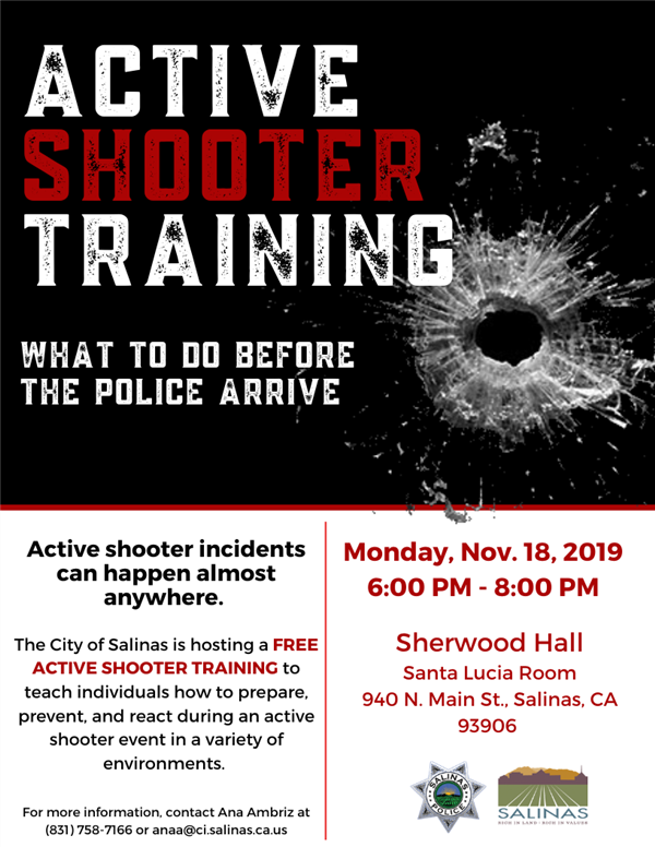 Flyer on Active Shooter event