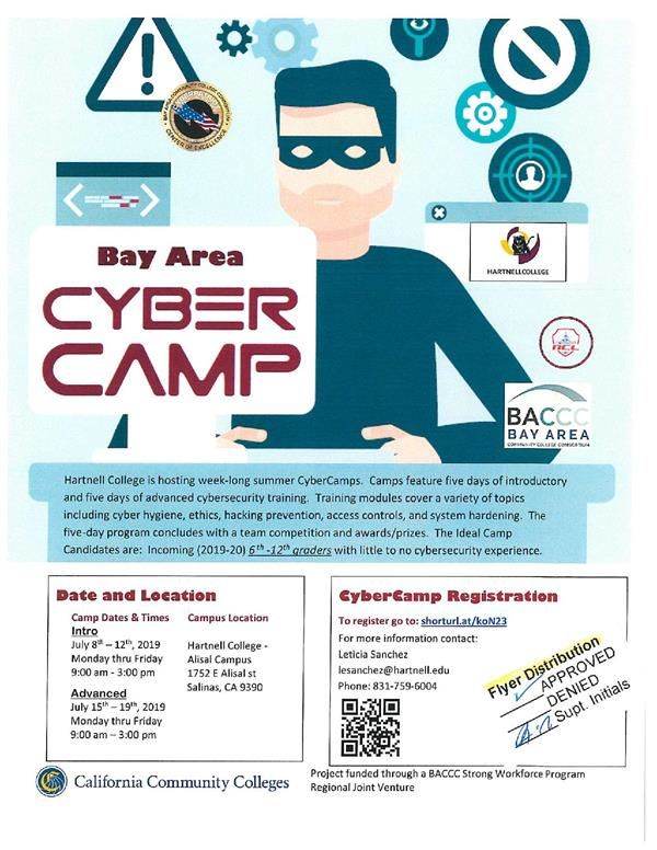Flyer Cybercamp classes