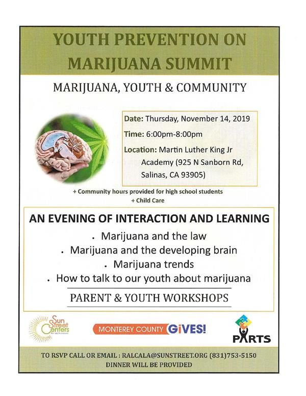 Another Flyer on marihuana use prevention event