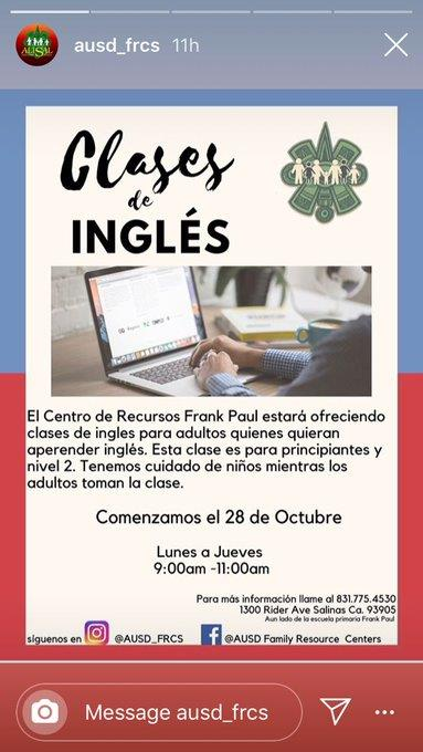 English classes at Frank Paul