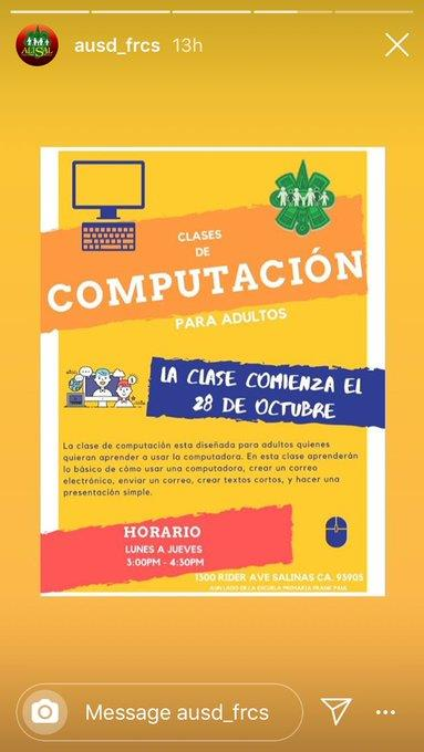 Computer classes flyer