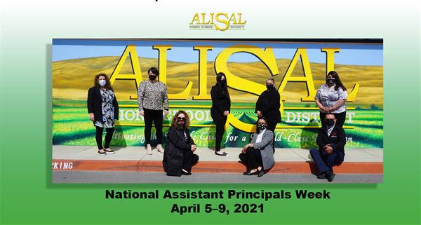 Assistant Principals pictured at Alisal mural