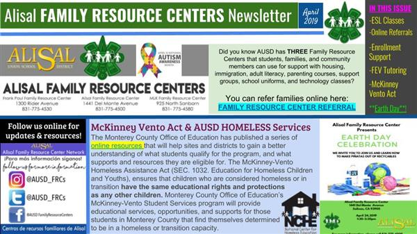 New — Alisal Family Resources Centers newsletter