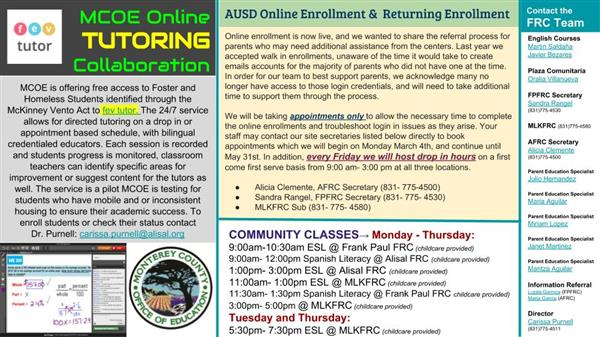 Alisal Family Resources center bulleting 2