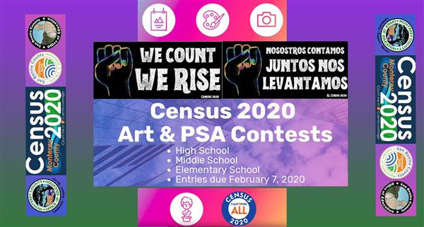 Banner to promote 2020 Census