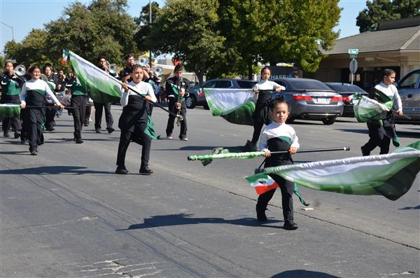 Color Guard parading down East Alisal Street