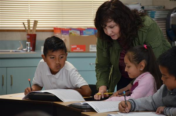 Norma Garcia with her students