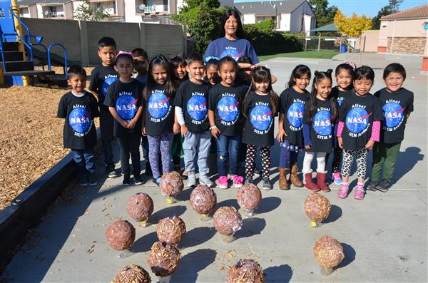 Kinder Students at NASA academy