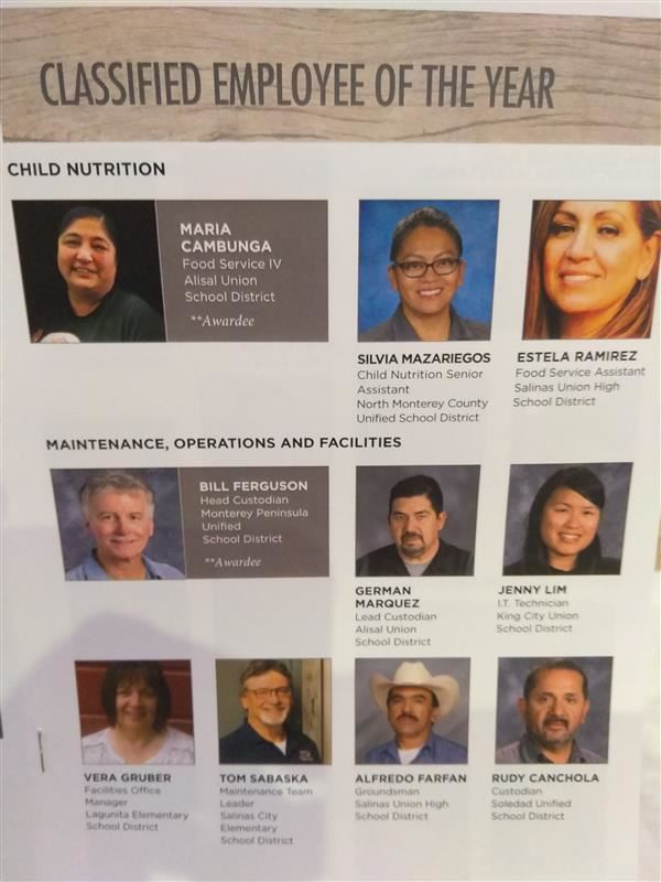 Alisal Usd Employees Recognized