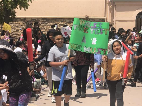 Students hold rallies ahead of SBAC testing