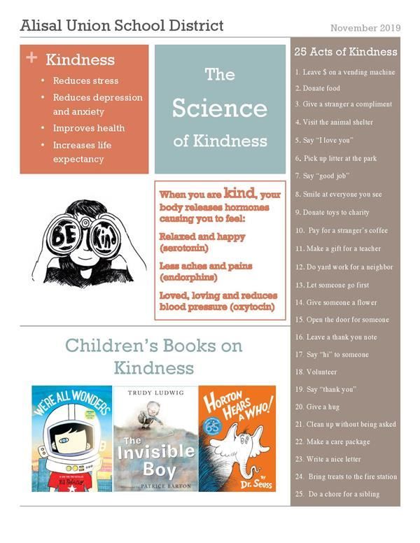 Kindness newsletter in English