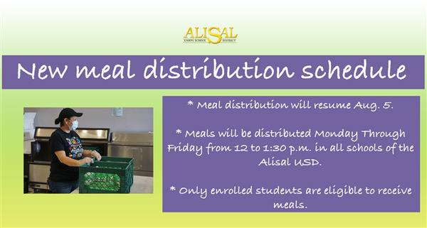 Changes to our meal distribution system