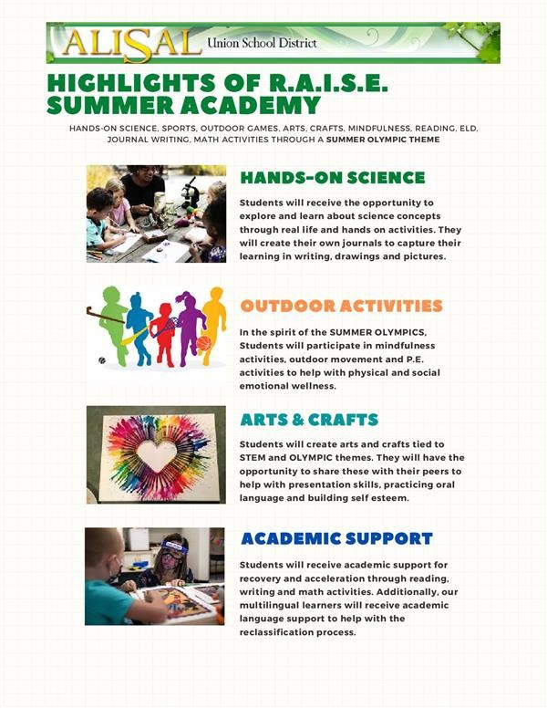 2nd page summer program flyer